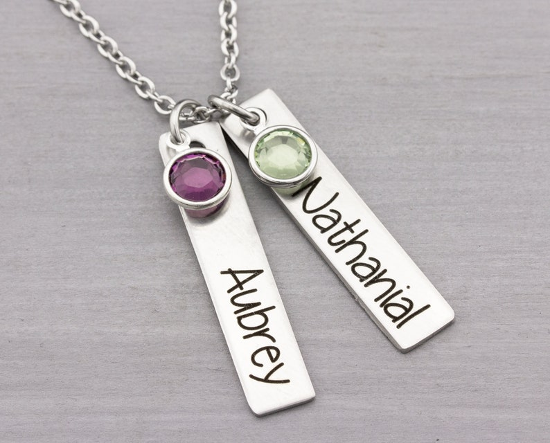 Personalized Name Necklace  Custom Jewelry  Mom Necklace image 0