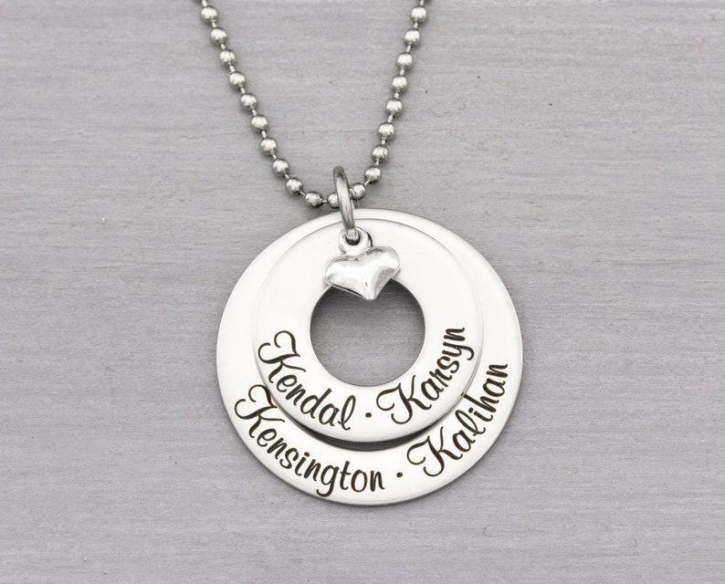 Custom Name Jewelry  Personalized Name Necklace  Mothers image 0