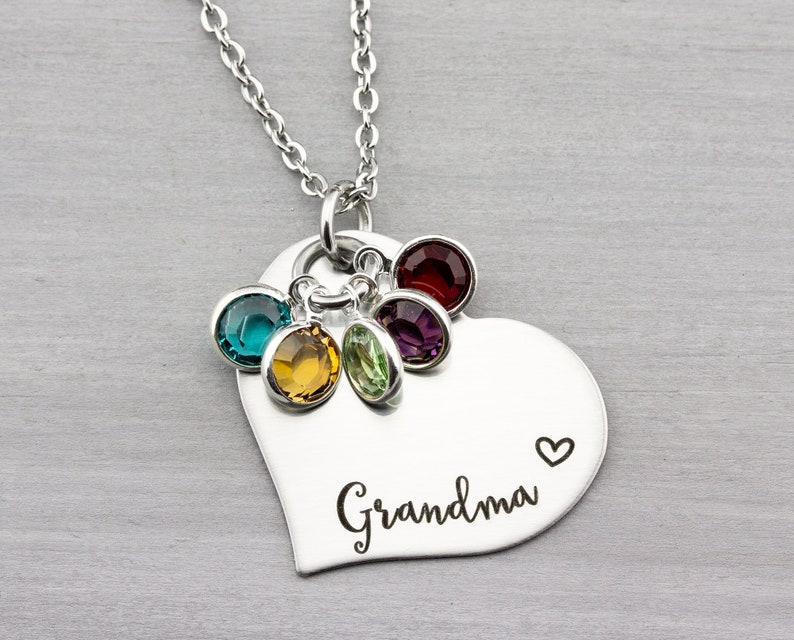 Personalized Grandma Necklace  Personalized Jewelry  image 0