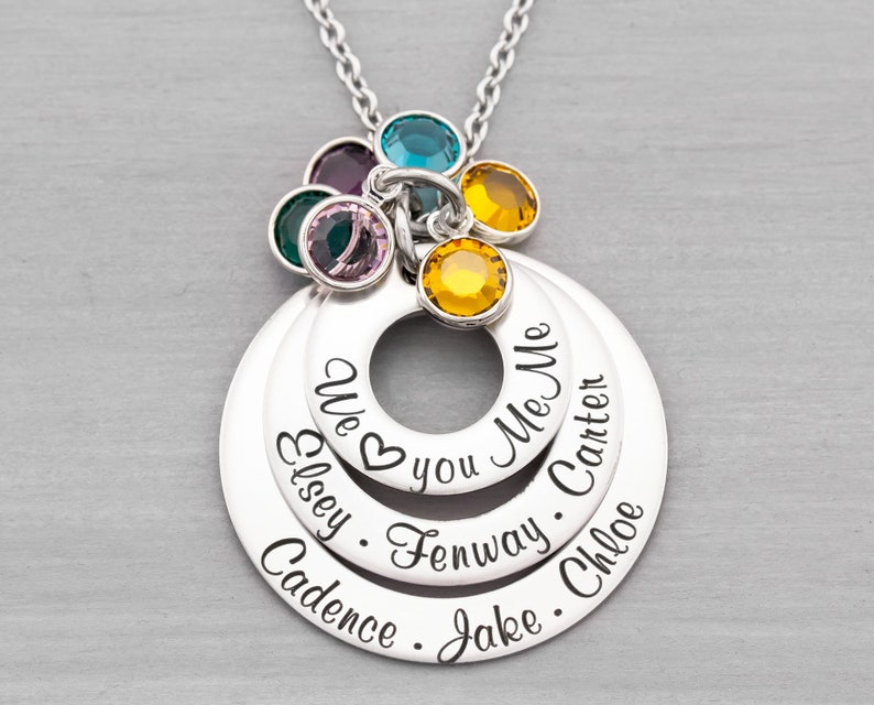 Personalized Name Jewelry  Personalized Necklace  Mom image 0