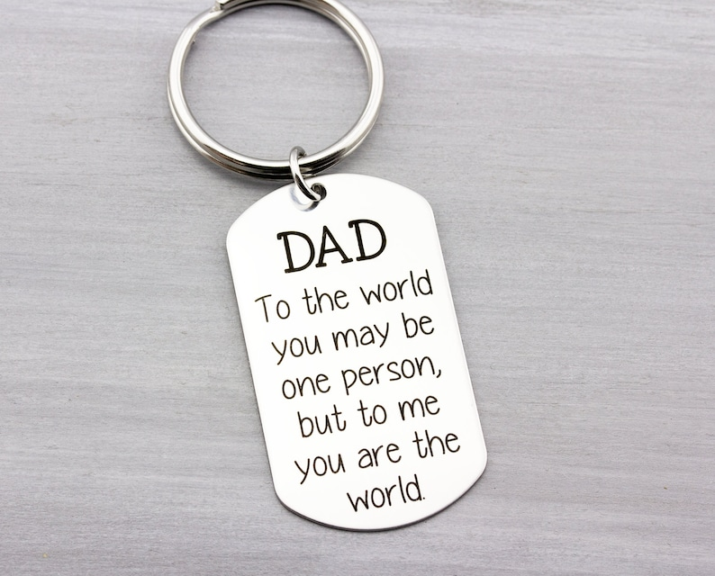 Personalized Key Chain  Custom Key Chain for Dad  Fathers image 0