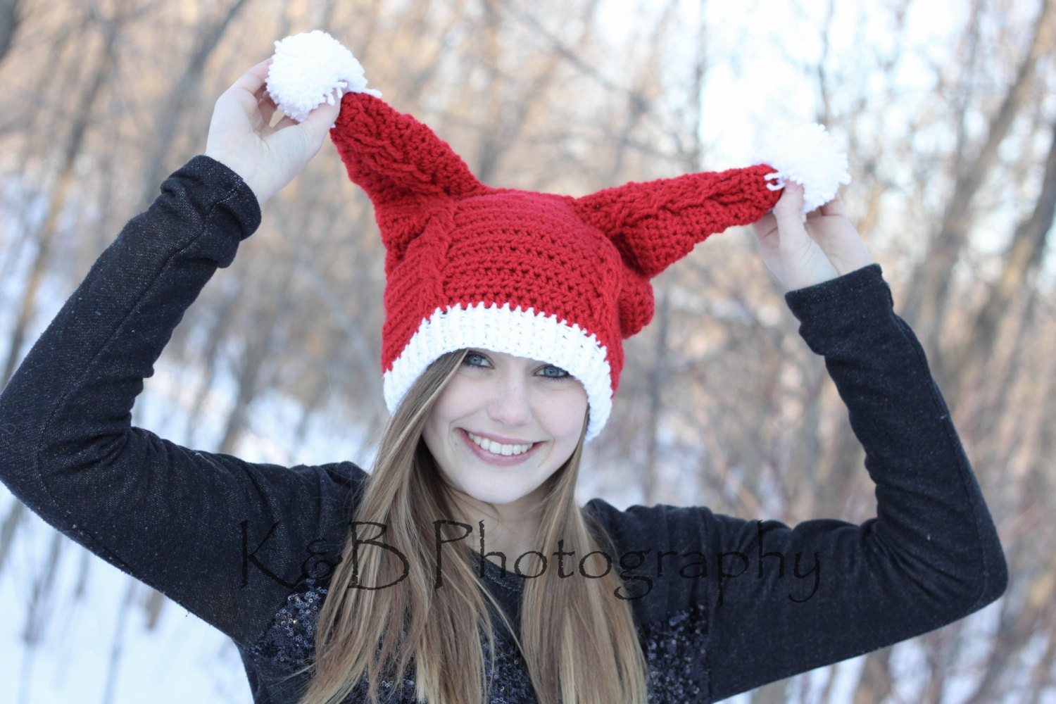13dcbd922a4f2 Penny s Santa Hat Crochet PDF Pattern Instant Download
