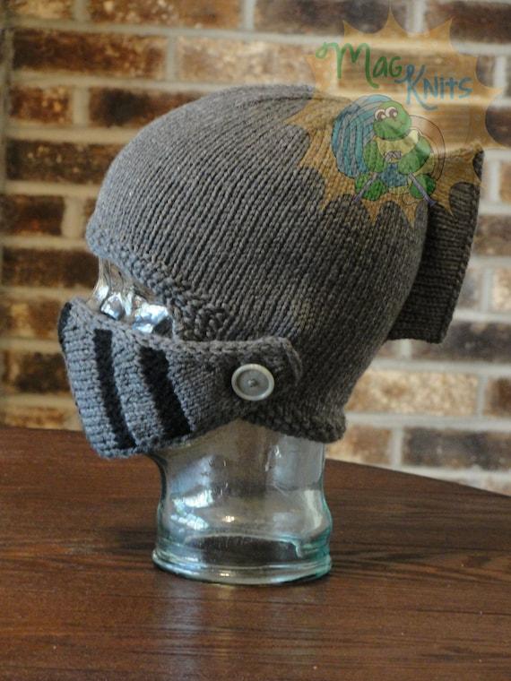 Instant Download Pdf Knit Sir Knight Helmet Pattern Etsy