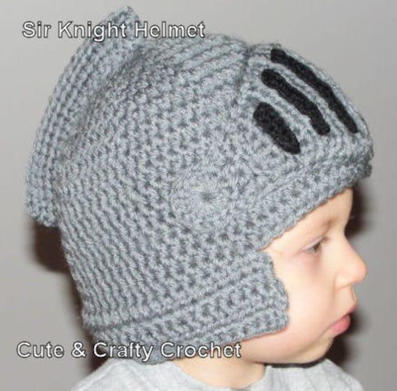 Instant Download PDF Sir Knight Helmet Crochet Pattern