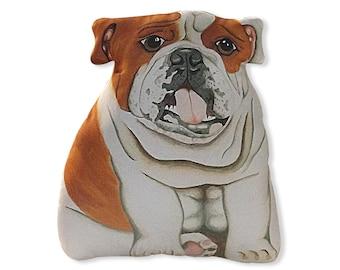 English Bulldog Stuffed Animal White Stuffed Bulldog Etsy