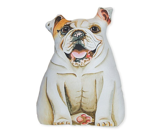 English Bulldog Stuffed Animal Large White Stuffed Bulldog Etsy
