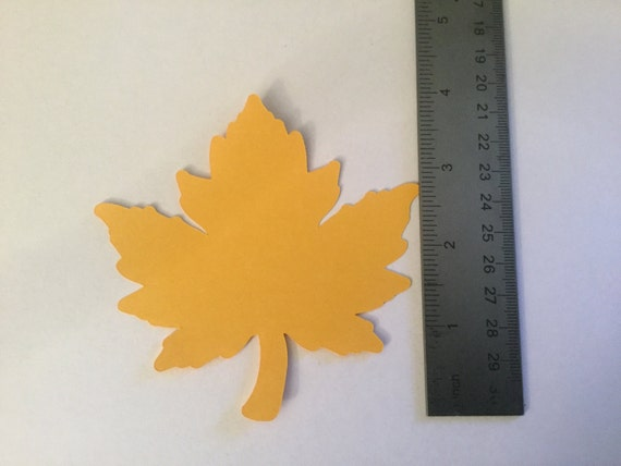 25 Large Fall Leaves Die cuts Large Leaf Confetti Thanksgiving Decor Leaf Paper Piecing 4 inch Leaf Cutout Autumn Leaves Thankful Tree