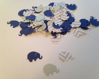 Elephant Baby Shower, Elephant Confetti,  Gray Chevron Navy Gray, Sip and See, Elephant Cut Out, Elephant Theme, Elephant Party