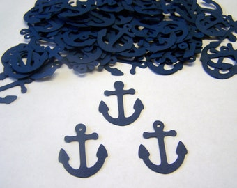 Anchor Confetti Nautical Baby Shower Die Cut Anchor Cut out Embellishment Table Scatter Nautical Wedding
