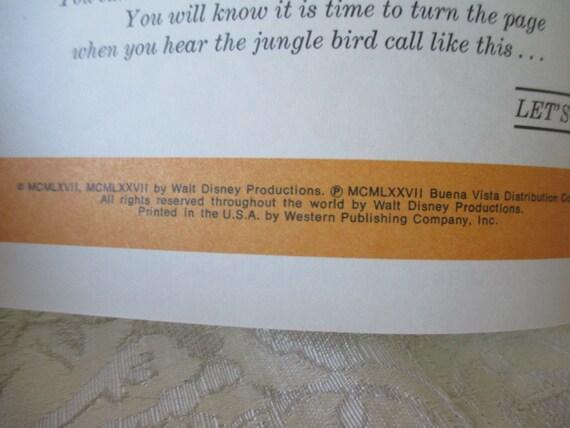 Vintage 1960 S Walt Disney S Jungle Book Read Along W O Tape