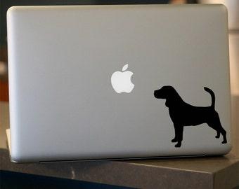 Beagle Decal -  Dog Vinyl Sticker - For Car, Window, Laptop
