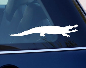 Crocodile Decal - Alligator Vinyl Sticker - For Car, Window, Laptop,