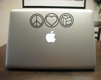 Peace Love Volleyball Decal - Sticker -For Car, Laptop,