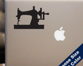 Vintage Sewing Machine Decal  - Crafts Sticker - For Car Window, Laptop, iPhone