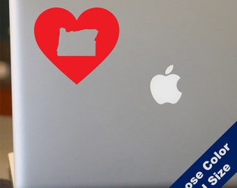 I Heart Oregon State Decal - Love - for Laptop, Car, iPhone
