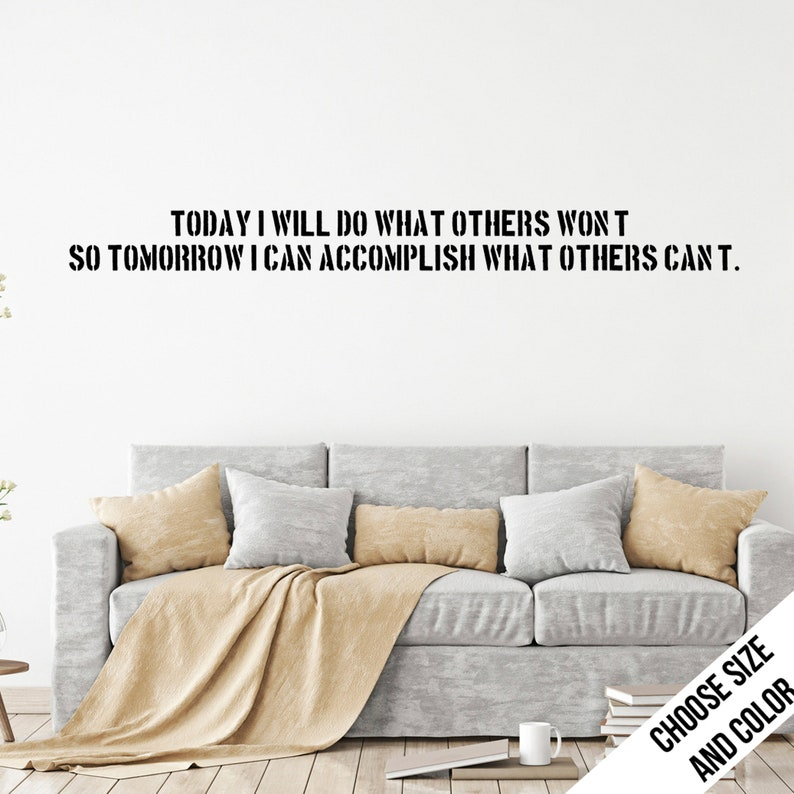 Today I Will Do What Quote Wall Sticker Customizable Etsy