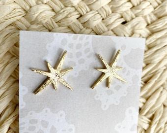 Gold Star Stud Earring