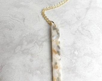 Sandy Acrylic Beach Necklace in Gold, Beach Necklace, Island Necklace, Summer Necklace