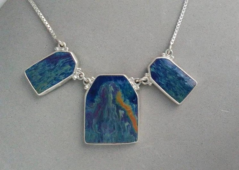 Statement Necklace Upcycled Ceramic  Chase Away the image 0
