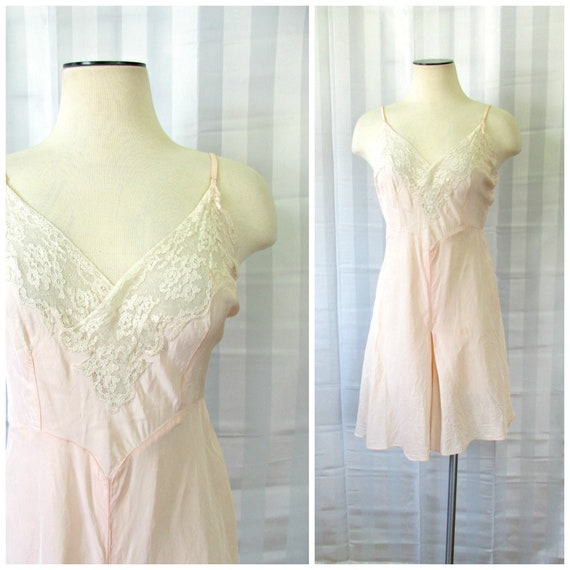 Vintage 1920s 1930s Silk Chemise by Lady Duff Tedd