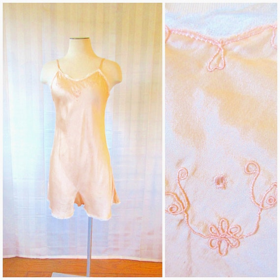 Vintage 1920s 1930s Charmeuse Silk Chemise by Tril