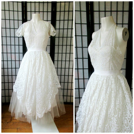 Vintage Wedding Dress by Harry Keiser 1940s 1950s
