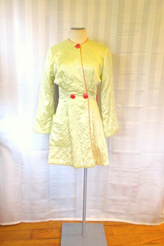 Vintage Dressing Robe 1930s 1940s Deco Satin Loung