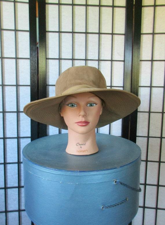 Vintage Mod Floppy Suede Hat By Betmar 1960s 1970s