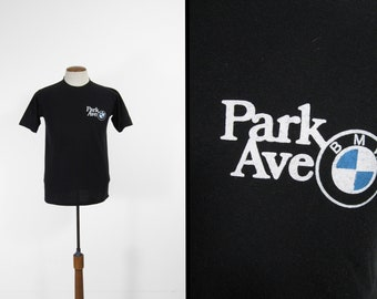 e961e31264ea Vintage BMW Dealer T-shirt Park Ave New Jersey Black Made in USA Tee -  Small   M