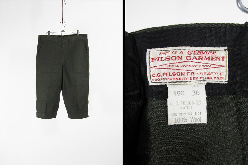 c6501a1050259 Vintage Filson Hunting Breeches Green Whipcord Wool Pants Made | Etsy