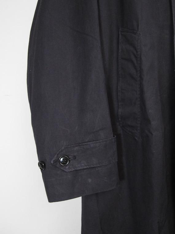 Vintage WW2 Raincoat US Navy Trench Coat Midnight… - image 3