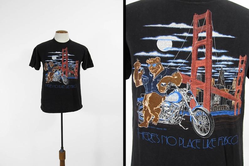 471e623b6 Vintage 80s Harley Davidson T-shirt San Francisco Bear | Etsy