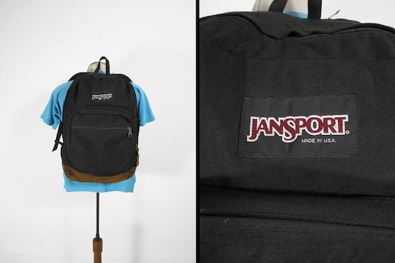 Vintage Jansport Leather Bottom Backpack Black 199