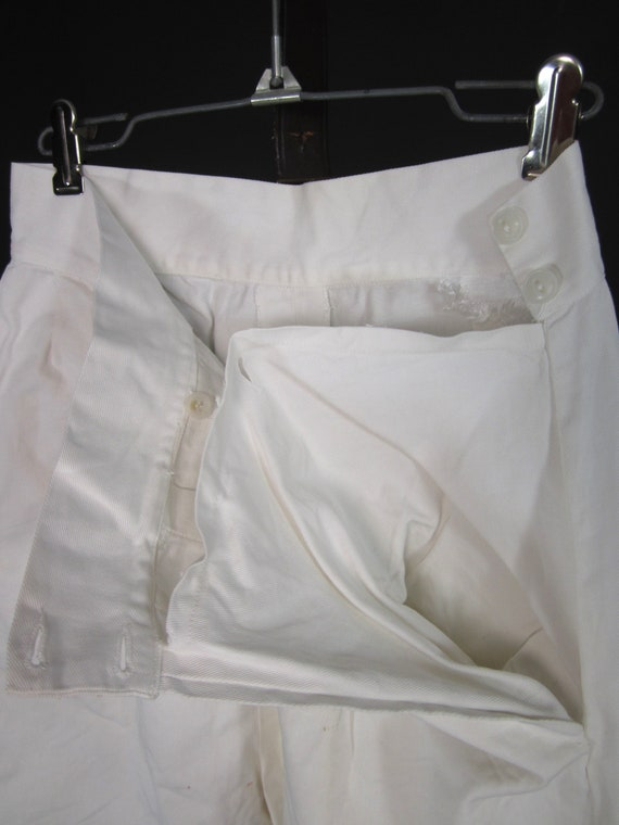 Vintage 30s 40s White Shorts High Waisted Wide Le… - image 4