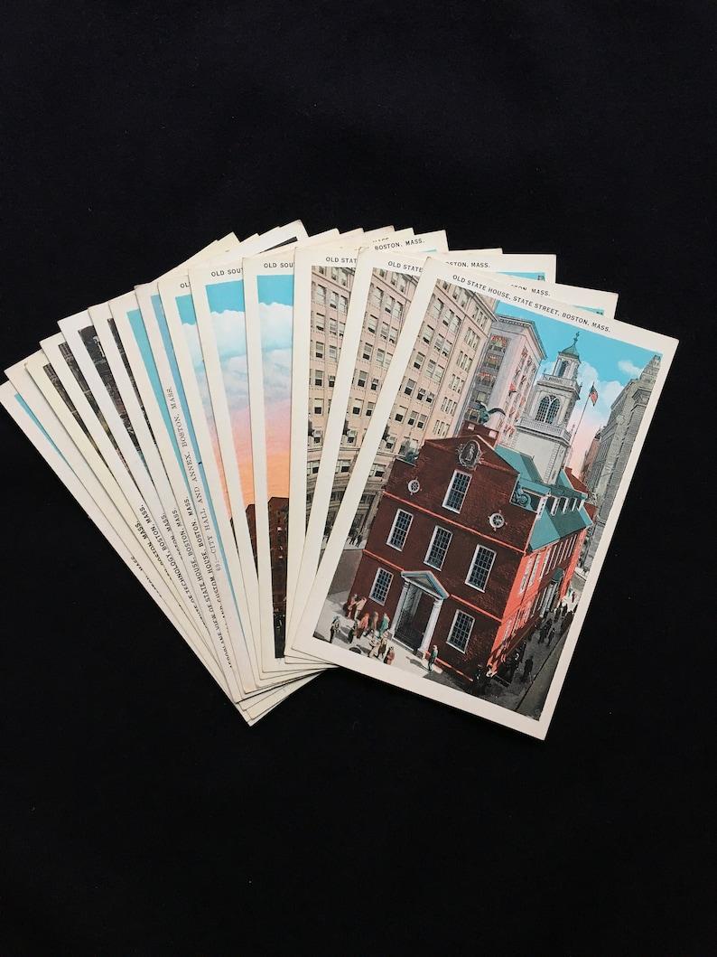 Vintage Boston MA Postcard Collection MIT State House Unused image 0