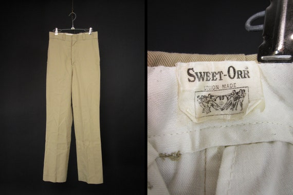 Vintage Sweet Orr Chinos Khaki Work Pants Union Ma