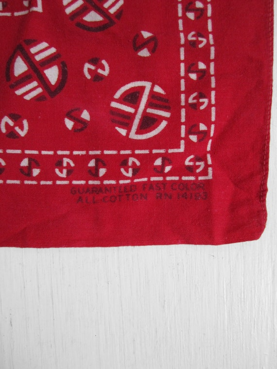Vintage Red Fast Color Bandana Turkey Red Roman Sh