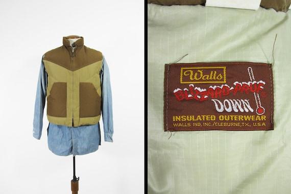 Insulated Vintage Blizzard Down Medium Zip Men's Vest Walls Up 70s Pruf Chevron edBWrxoQCE