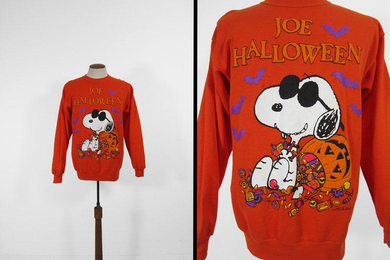 4150ff3eb Vintage Snoopy Halloween Sweatshirt Joe Cool Orange Peanuts | Etsy