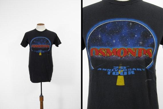 950260ab6af7 Vintage Osmonds Tour T-shirt Black Concert 25th Anniversary