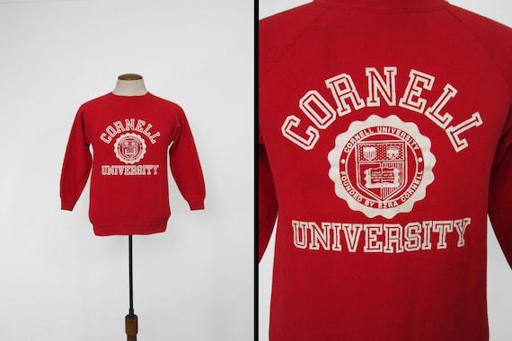 Vintage Cornell University Sweatshirt 60s Red Ragl