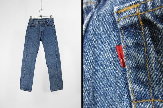 64ca5828 Vintage Levi's Acid Wash Jeans 505 Red Tab Slim Fit Denim | Etsy