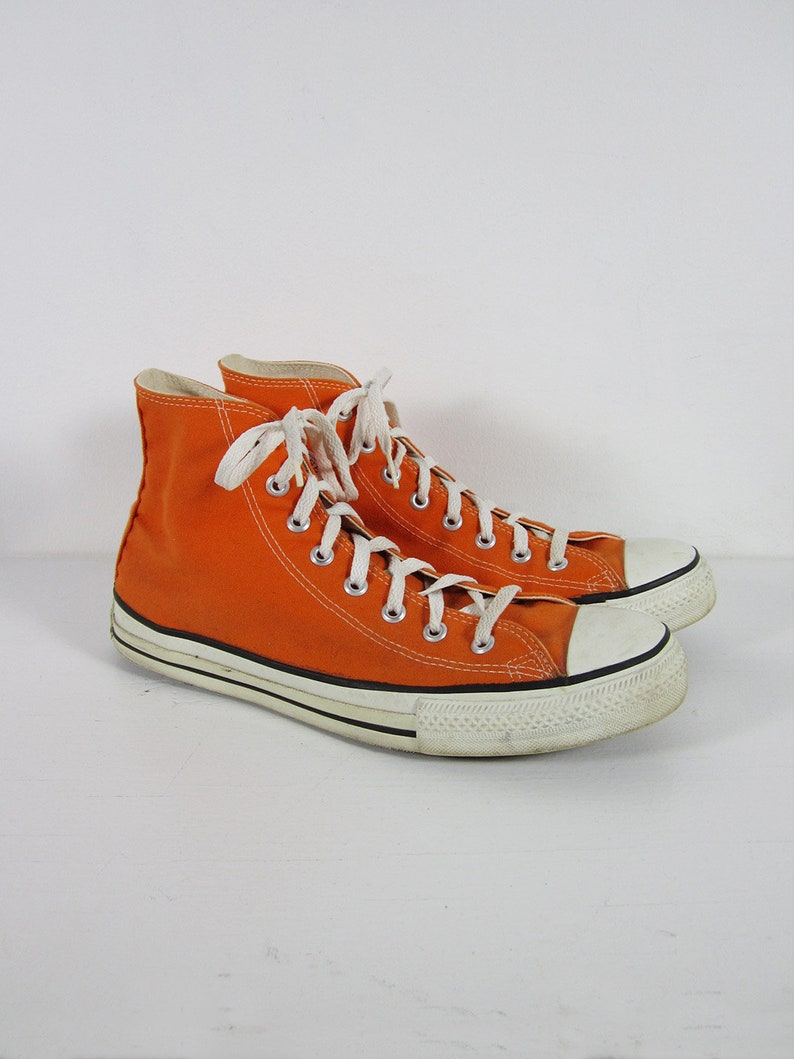 676dbf31c95c Vintage Converse Chuck Taylor Sneakers Made in USA Orange