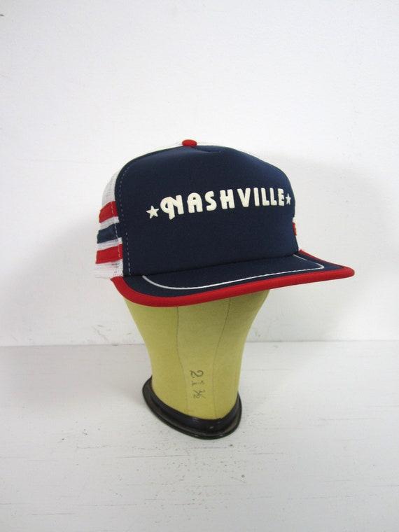 Vintage 3 Stripe Nashville Hat Snapback Trucker Bl