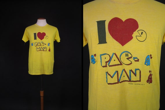 Vintage 80s Pac-Man T-shirt MIDWAY Paper Thin Arca