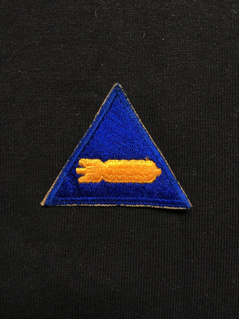 Vintage Army Air Force Armament Specialist Patch Blue Bomb image 0