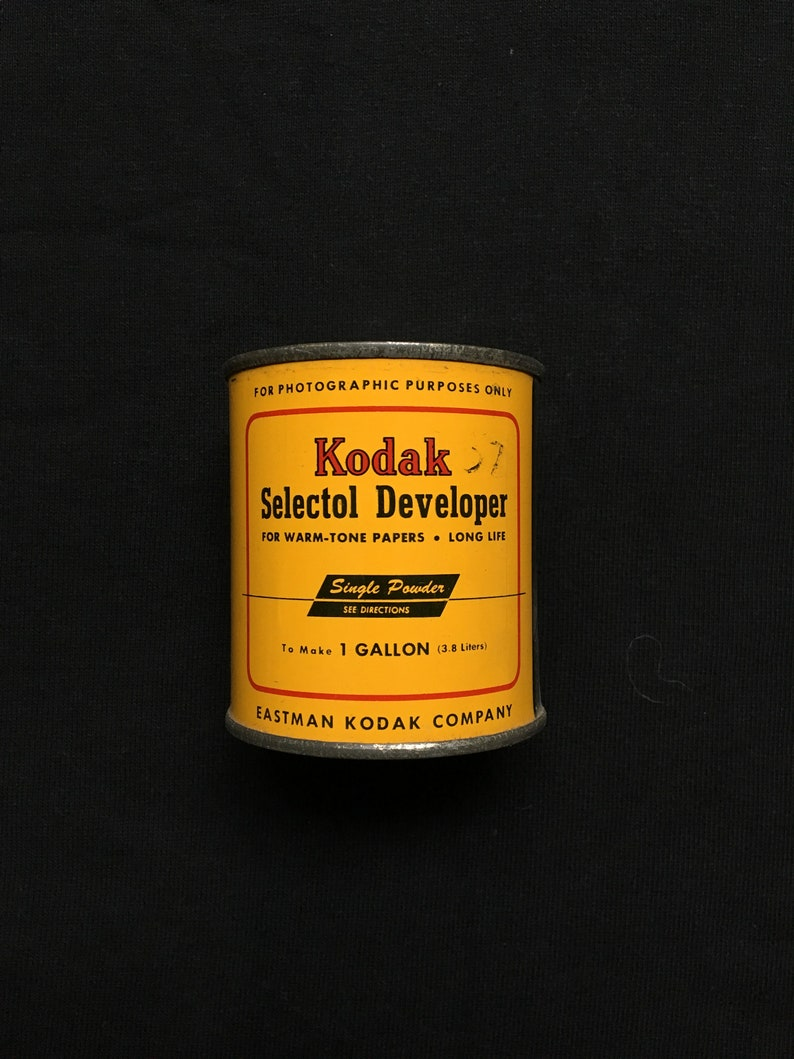 Vintage Kodak Selectol Developer Can Photography NOS image 0