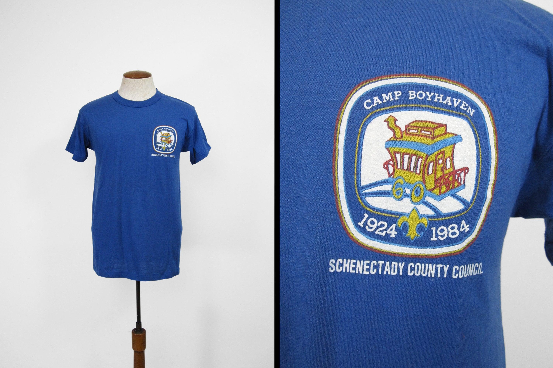 80s Tops, Shirts, T-shirts, Blouse   90s T-shirts Vintage Camp Boyhaven T-Shirt Boy Scout Schenectady Council Ny - Size Large $25.00 AT vintagedancer.com