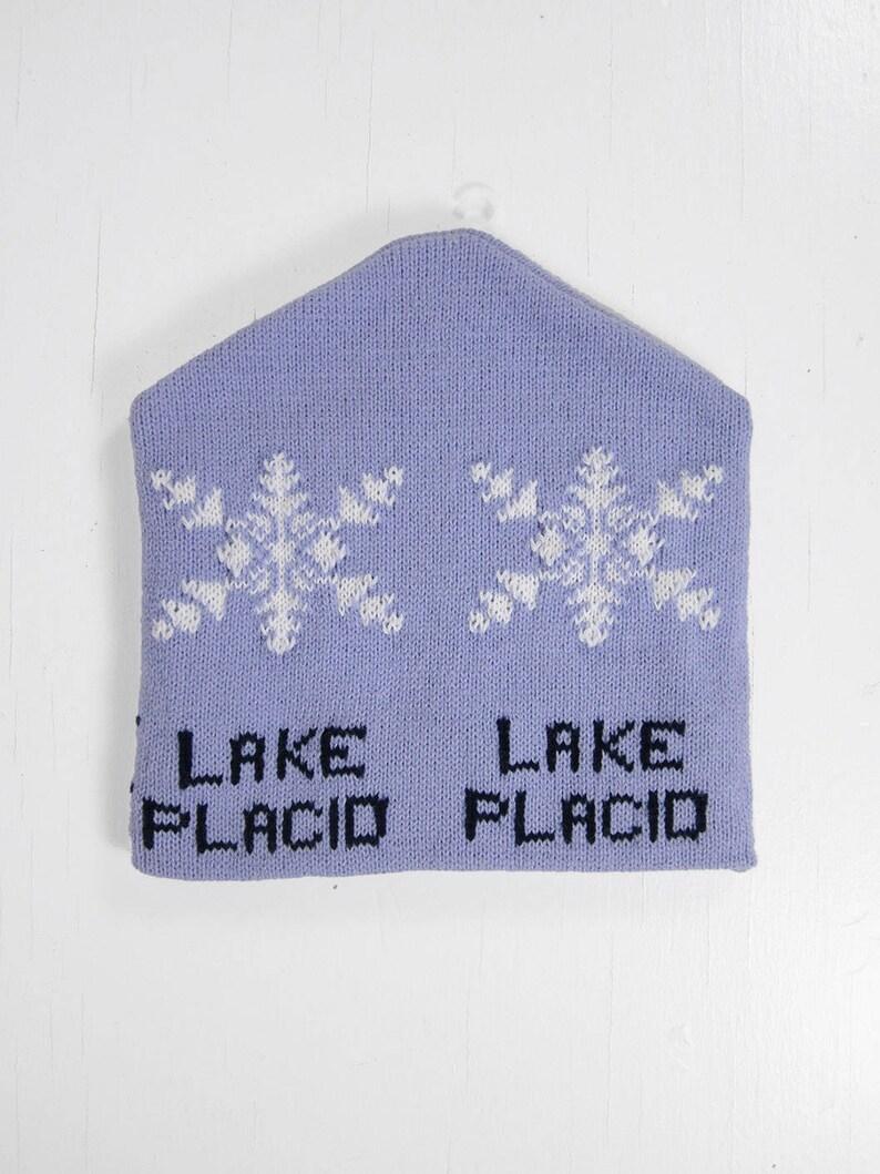 Vintage Lake Placid Olympics Hat Lavender Purple NOS 1980 image 0
