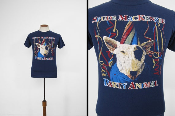 Vintage Spuds MacKenzie T-shirt Bud Party Animal 8
